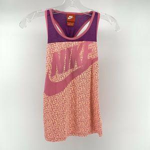 Nike Girls L Pink Logo Swoosh Racerback Tank Top
